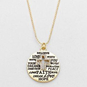 Dina Aziza Jewelry - ✨BEAUTIFUL RHINESTONE CROSS NECKLACE W/ ENGRAVING