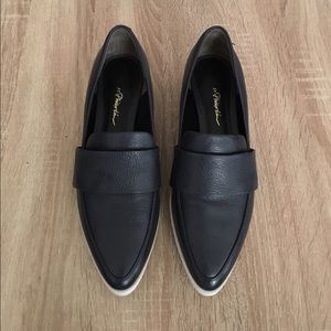 3.1 Phillip Lim Navy Leather Quinn Loafers