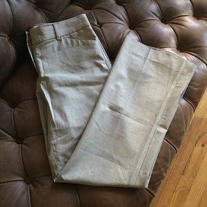 THEORY BEIGE WIDE LEG WOOL SUIT PANTS 4 $295