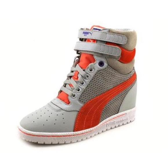 d0f8394da87 Puma  Sky Wedge  Sneakers Grey   Coral. M 56c88f1656b2d67653002b3a