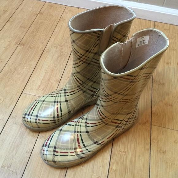 Sperry Shoes | Sperry Khaki Plaid Rain