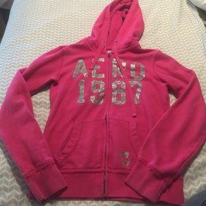 Sz s Aeropostale zip up hooded jacket