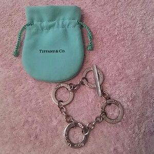 """.925 Tiffany & Co. 7.5"""" Round Circle Bracelet"""