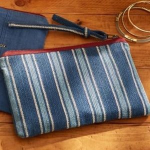Pottery Barn ~ Leonard Print Pouch Cosmetic bag