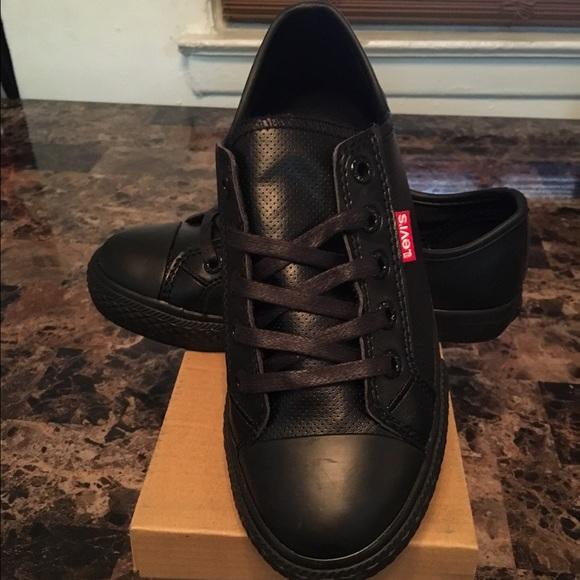 Boys Black Levis Sneakers