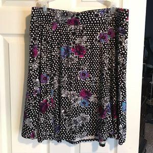 Beautiful Floral/Polka Dot Skirt!