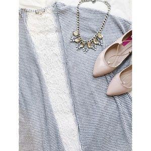 eyeshadow Sweaters - Lace Panel Kimono🎀