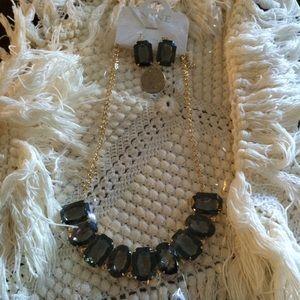 MWT Nine West Smokey Topaz jewelry set! Great gift