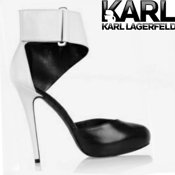 bc3e74c17da KARL LAGERFELD Shoes - Just in! Karl Lagerfeld ankle strap platform heels