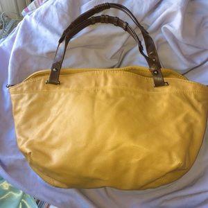 Convertible Yellow Zara Shoulder/Tote Bag
