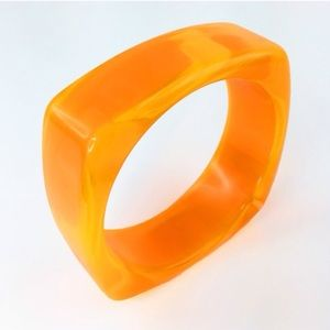 Adia Kibur Jewelry - Adia Kibur neon orange resin bangle-NWT!