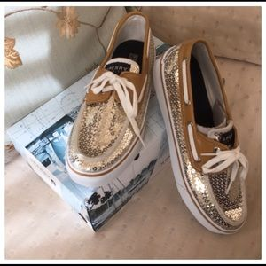 Sperry Top-Sider Shoes - 🎀NIB, Sperry Gold Sequin Top-Siders🎀