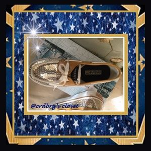 Sperry Shoes - NIB, Sperry Gold Sequin Top-Siders