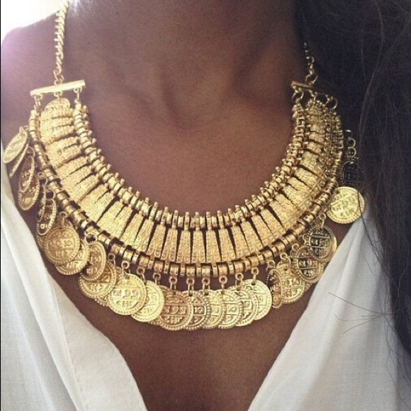 Turkish gold coin necklace!