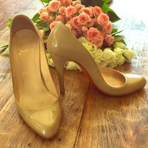 Christian Louboutin Shoes - Christian Louboutin Patent Leather Nude Pump