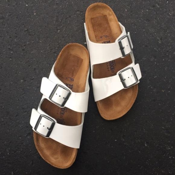8e45f9266ea5 Birkenstock Shoes - Birkenstock Arizona White Patent Leather 37   7