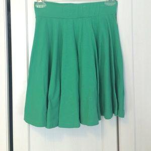 Green high waisted skirt