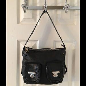 Marc Jacobs Handbags - 🛍 Marc Jacobs Black Silver Leather Shoulder Bag