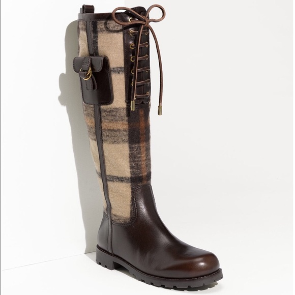 f8f6431f83423 ... where can i buy tory burch plaid flannel leather riding boots 46eb9  5fc02