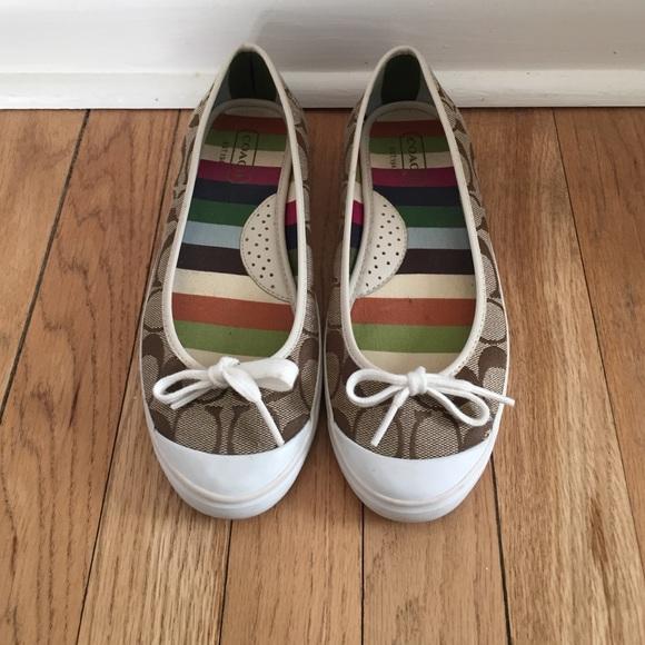 Coach Shoes   Coach Sneaker Flats Size