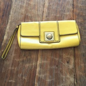 Banana Republic Handbags - Banana Republic Yellow Wristlet Clutch