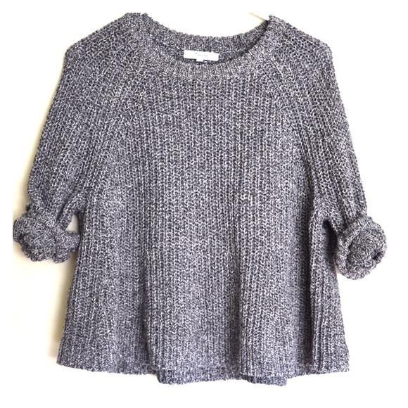 70% off Madewell Sweaters - Madewell Marled Swing Crop Sweater ...