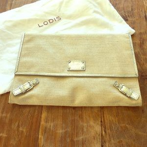 Lodis Handbags - Lodis Canvas Clutch