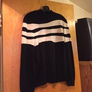 St John black cream & gold sweater