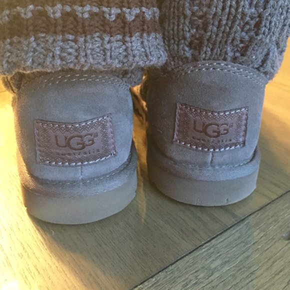 gray ugg boots with buttons