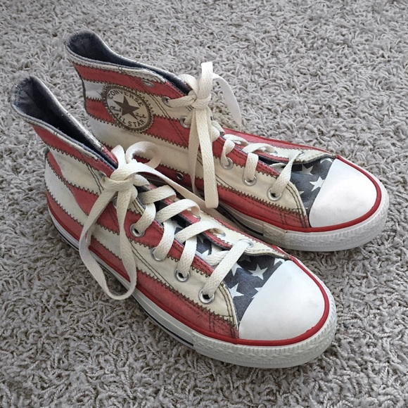740293f12372aa Converse Shoes - American Flag Converse Vagabond High Top Sneakers