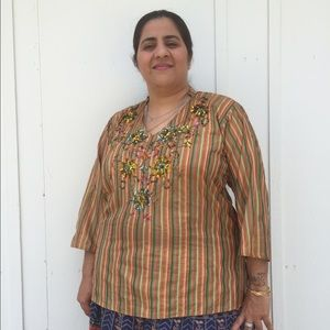 Tops - Sequins silk blouse