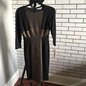Antonio Melani Black Gold Colorblock Dress