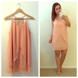 Dresses & Skirts - Drapey Peach Dress