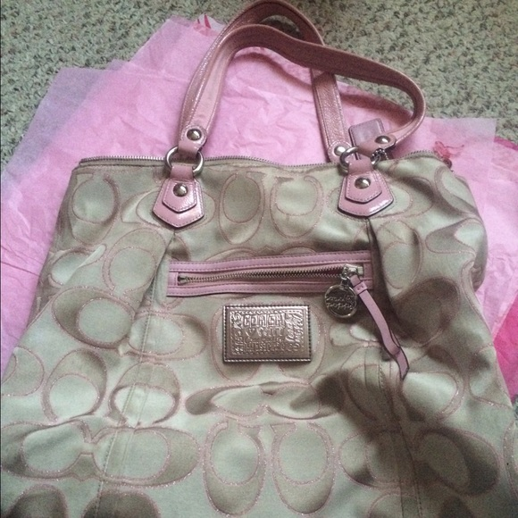 Coach poppy bag pink white coachonline coach poppy tan pink purse mightylinksfo
