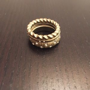 Set of 3 gold tone rings
