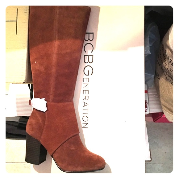 9e42beb7d BCBGeneration Shoes | Bcbg Cognac Suede Knee High Boots | Poshmark