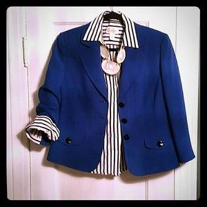Talbots striped blouse