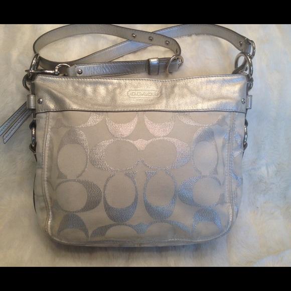 Coach Handbags - Authentic COACH silver CrossBody Bag 093cc3e3b2af8