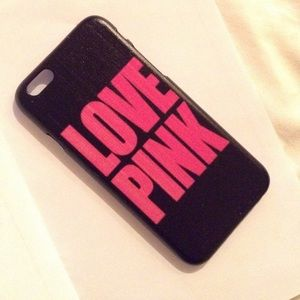 Accessories - iPhone 6 love pink hard case
