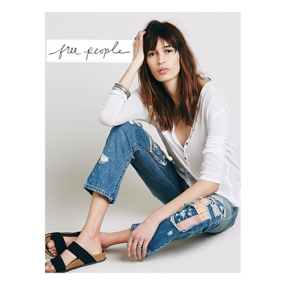Free People Denim - 4.99 ship DEAL O DAY 5/14🤑 Free People Patchwork