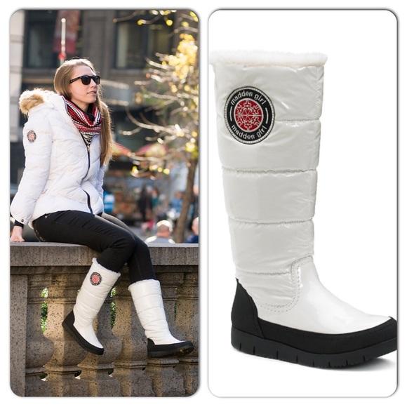 Madden Girl Igloo Puffed Winter Boots 7
