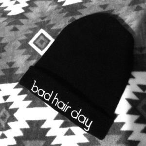 """""""Bad Hair Day"""" beanie"""