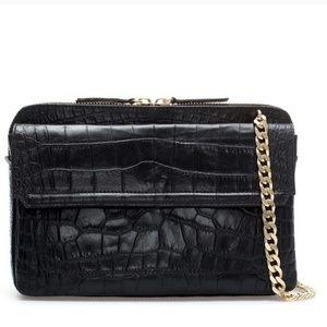 Zara croco messenger bag
