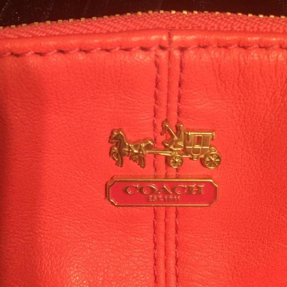 71 off coach handbags cute coral coach purse from jans