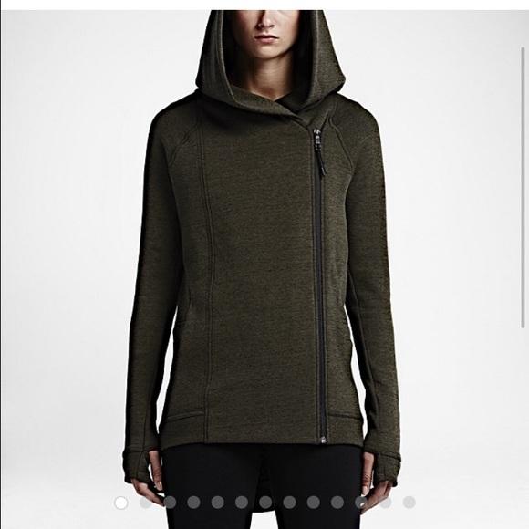 cc9fff7f9e5b large NWT Nike deep green side zip hoodie