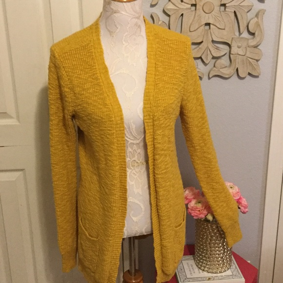 64% off Mossimo Supply Co. Sweaters - 🌸Mustard Color Open Long ...