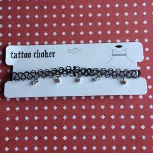 Jewelry - NWT tattoo choker with rhinestones