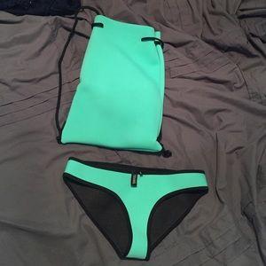 Triangl bikini bottom in chloe-miami mint