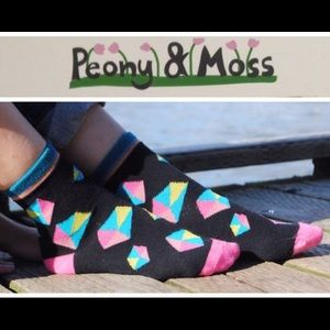 """Peony and Moss Accessories - Penney & Moss Crew Socks """"Outer Space"""""""