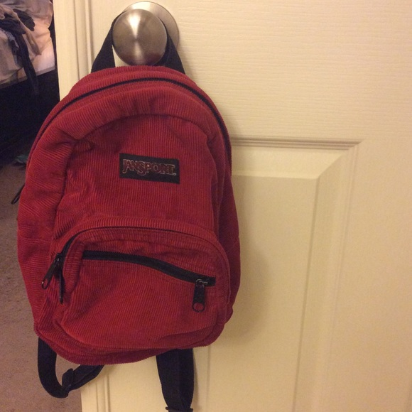 Jansport - Cute corduroy red mini jansport back pack from Misha's ...